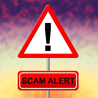 Scam Alert - Red Triangle